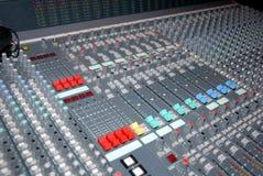 控制台混合的声音 免版税库存照片