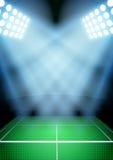 海报夜网球体育场的背景的 免版税图库摄影