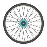 自行车车轮平的样式 免版税库存图片