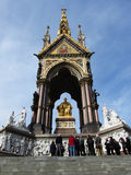 阿尔伯特纪念品,伦敦,英国 免版税图库摄影