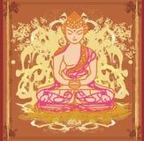 艺术性的传统佛教中国的模式 免版税库存图片