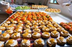 Специальности еды ресторанного обслуживании Стоковые Фотографии RF