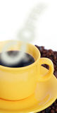 咖啡杯热烟 免版税库存照片