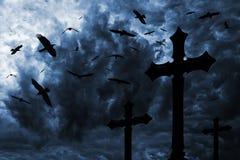σκοτεινή νύχτα Στοκ Εικόνες