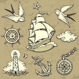 水手集合 免版税图库摄影