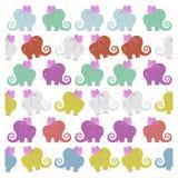 色的飞行的大象 免版税库存图片