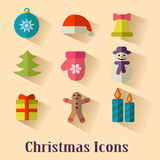 διακοσμημένο Χριστούγεννα δέντρο εικονιδίων γουνών Στοκ Εικόνες