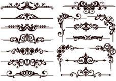 Вектор орнаментирует рамки, углы, границы Стоковые Фотографии RF