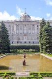 Королевский дворец Мадрида Стоковая Фотография RF