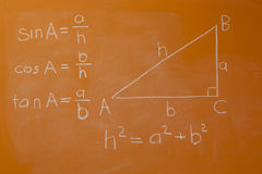 毕达哥拉斯定理 库存照片