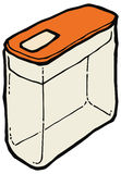 Иллюстрация вектора коробки хлопьев Стоковая Фотография RF