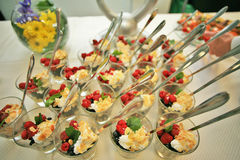 Вкусный и здоровый свежий десерт Стоковая Фотография