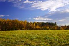 农村秋天的横向 库存照片