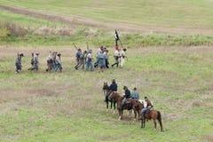南北战争再制定 库存照片