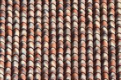 镶边陶瓷砖屋顶关闭 水平的背景 图库摄影