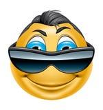 Χαρακτήρας με το χαμόγελο γυαλιών ηλίου Στοκ Εικόνες