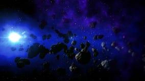 Реалистический космос с холодным Солнцем Стоковые Фотографии RF