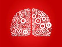 人力脑子的半球 图库摄影