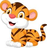逗人喜爱的小老虎动画片 库存照片