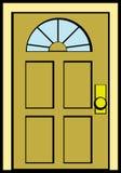 закрытая дверь Стоковое фото RF