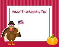 Рамка Турции официальный праздник в США в память первых колонистов Массачусетса горизонтальная Стоковое Изображение