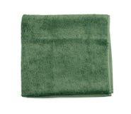 绿色毛巾 免版税库存图片