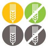 Пшеница и клейковина освобождают знаки Стоковое Изображение RF