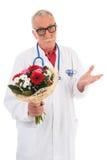 Ο γιατρός δίνει τις συγγνώμες Στοκ Φωτογραφία