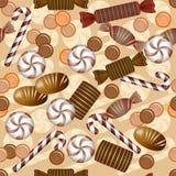 Άνευ ραφής σχέδιο με την καραμέλα σοκολάτας Στοκ φωτογραφία με δικαίωμα ελεύθερης χρήσης