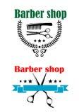 两个理发店象征或标志 免版税图库摄影