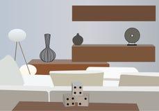 εσωτερικό διανυσματικό λευκό δωματίων Στοκ εικόνες με δικαίωμα ελεύθερης χρήσης
