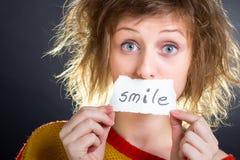 微笑笔记 免版税库存图片