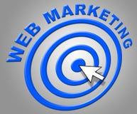网营销显示互联网和网站 免版税库存图片
