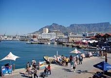 维多利亚和阿尔弗莱德江边,开普敦,南非 免版税库存照片