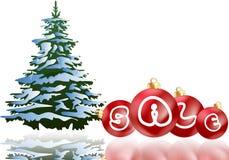Πώληση διακοσμήσεων Χριστουγέννων Στοκ Φωτογραφία
