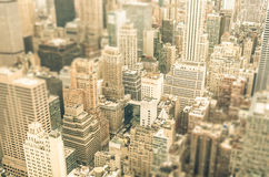 摩天大楼在纽约-曼哈顿商业区  图库摄影