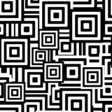 黑色模式无缝的白色 库存图片