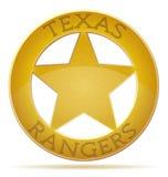 Иллюстрация Техасских рейнджеров звезды Стоковое Изображение