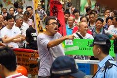 伞革命在旺角 免版税图库摄影