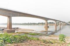 友谊大桥,泰国-老挝,首先 图库摄影