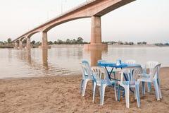 友谊大桥,泰国-老挝,首先 免版税库存图片
