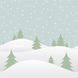 与落的雪的无缝的冬天背景 免版税库存图片