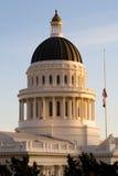 加利福尼亚国会大厦状态日落 免版税库存照片