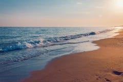 空的海滩 免版税库存图片