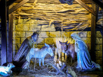 Ιερό οικογενειακό παχνί Στοκ φωτογραφία με δικαίωμα ελεύθερης χρήσης