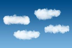 在蓝天背景的烟云 免版税图库摄影