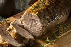 自创热的猪里脊肉 免版税库存照片