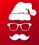 行家圣诞老人剪影 库存图片