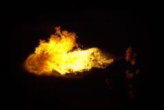 火显示 库存照片