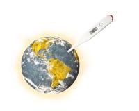 全球性变暖的例证 库存图片